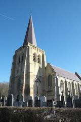 Eglise Saint-Sylvestre - Deutsch: Kirche Saint-Sylvestre in West-Cappel im Département Nord (Nord-Pas-de-Calais/Frankreich)