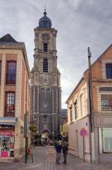 Hôtel de ville et beffroi - Français:   Aire sur la Lys le beffroi