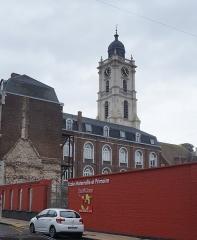 Hôtel de ville et beffroi - English:   The belfry and the town hall in Aire-sur-la-Lys, Pas-de-Calais, France.