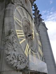 Beffroi - Horloge du beffroi d'Arras vue depuis le beffroi, Pas-de-Calais, France.