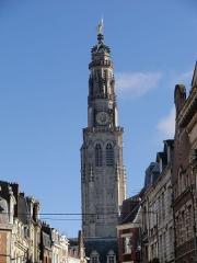 Beffroi - Beffroi depuis la rue Désiré Delansorne, Arras, Pas-de-Calais, France.
