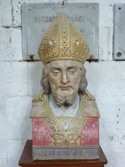 Eglise Saint-Omer - Français:   Merck-Saint-Liévin (Pas-de-Calais, France), église Saint-Omer classée M.H., buste de St Liévin.