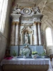 Eglise Saint-Omer - Français:   Merck-Saint-Liévin (Pas-de-Calais, Fr) église Saint-Omer classée M.H., autel secondaire de la Vierge.