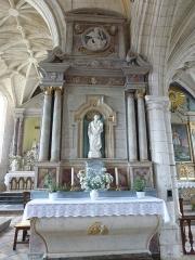Eglise Saint-Omer -  Merck-Saint-Liévin (Pas-de-Calais, Fr) église Saint-Omer classée M.H., autel latéral de St Joseph.