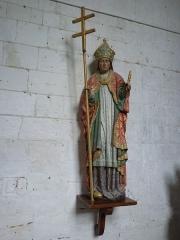 Eglise Saint-Omer - Français:   Merck-Saint-Liévin (Pas-de-Calais, France), église Saint-Omer classée M.H., statue en pied de St Liévin.
