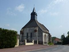 Eglise - Français:   Senlis (Pas-de-Calais, Fr) église Notre- Dame PA00108430 façade