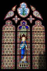Eglise Notre-Dame de Pitié - Vitrail de la Vierge Immaculée, église Notre-Dame-de-Pitié, Fr-44-le Croisic.