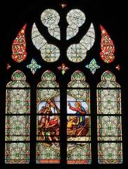 Eglise Notre-Dame de Pitié - Vitrail de la pêche miraculeuse, église Notre-Dame-de-Pitié, Fr-44-le Croisic.