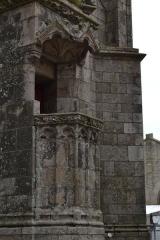 Eglise Saint-Aubin (ancienne collégiale) - Chaire extérieure de la collégiale Saint-Aubin de Guérande (Loire-Atlantique, France).