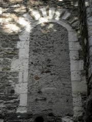 Bâtiment dit La Psallette -  Mur roman de la Psalette de la cathédrale de Nantes.
