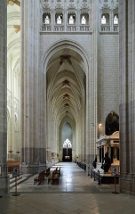 Cathédrale Saint-Pierre Saint-Paul - Nederlands: Nantes (departement Loire-Atlantique, Frankrijk): interieur van de Sint-Petrus- en Sint-Pauluskathedraal