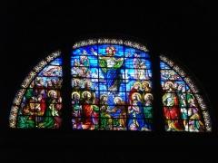 Eglise Notre-Dame-du-Bon-Port - Intérieur de l'église Notre-Dame-de-Bon-Port de Nantes (Loire-Atlantique, Nantes), vitrail