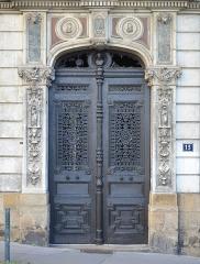 Hôtel Garreau - Français:   Porte de l\'Hôtel Garreau (1845) - Rue Dobrée, rue Damrémont - Nantes, Loire-Atlantique