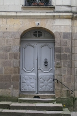 Immeuble -       This file was uploaded  with Commonist.  Porte d'immeuble, 11 rue Kervégan à Nantes