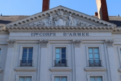 Hôtel d'Aux, puis hôtel du 11e Corps d'Armée - Français:   Extérieur de l\'Hôtel d\'Aux  à Nantes (44).