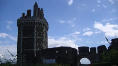 Préfecture - English: Tower and ruins of the Chateau d'Oudon