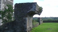 Château - English: Detail of the ruins of the Chateau d'Oudon