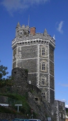 Château - English: Tower of the Chateau d'Oudon