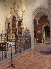 Eglise des Minimes - Chapelle Notre-Dame-de-l'Immaculée-Conception de Nantes (44). Collatéral et chapelles nord.