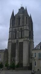 Ancienne abbaye Saint-Aubin, actuelle préfecture - English: Tower of Saint-Aubin, Angers
