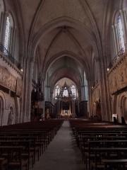 Cathédrale Saint-Maurice - Vue intérieure de la cathédrale Saint-Maurice d'Angers (Maine-et-Loire, France). Juillet 2015.