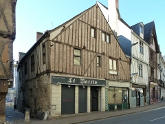 Maison - English:  A 15th and 16th century twin house, 61-63 Beaurepaire Street in Angers, Maine-et-Loire, Pays de la Loire, France.