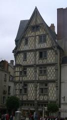 Maison d'Adam et Eve ou de l'Arbre de Vie - English: Maison d'Adam, rue Montault, place Sainte-Croix, Angers