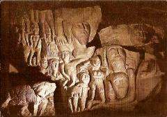 Caves dites des Mousseaux - Français:   Cave sculptée de Dénezé-sous-Doué, l\'espoitrinement à la Valois