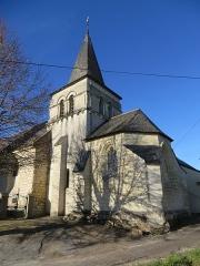 Eglise - Français:   Église Saint-Aubin à Dénezé-sous-Doué (Maine-et-Loire, France).