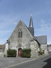 Eglise - Français:   Église Saint-Jean-Baptiste de Dénezé-sous-le-Lude (49). Façade occidentale.