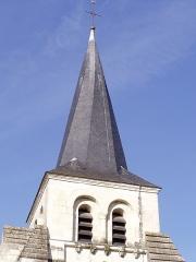 Eglise -  Distré (Maine et Loire) clocher à flèche de type