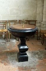 Eglise Saint-Michel - Nederlands: Fontevraud-l'Abbaye (departement Maine-et-Loire, Frankrijk): interieur van de Saint-Michelkerk - doopvont