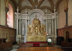 Eglise Saint-Michel - Nederlands: Fontevraud-l'Abbaye (departement Maine-et-Loire, Frankrijk): interieur van de Saint-Michelkerk - hoofdaltaar