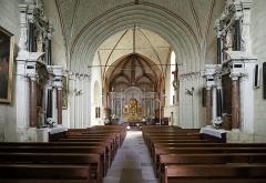Eglise Saint-Michel - Nederlands: Fontevraud-l'Abbaye (departement Maine-et-Loire, Frankrijk): interieur van de Saint-Michelkerk