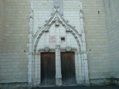 Eglise paroissiale (ancienne chapelle du château) - Français:   Église Notre-Dame de Montreuil-Bellay - Portail (Maine-et-Loire, Pays de la Loire).