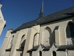 Eglise paroissiale (ancienne chapelle du château) - Français:   Église Notre-Dame de Montreuil-Bellay - Façade sud (Maine-et-Loire, Pays de la Loire).