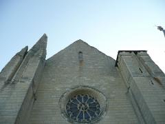 Eglise paroissiale (ancienne chapelle du château) - Français:   Église Notre-Dame de Montreuil-Bellay - Façade ouest (Maine-et-Loire, Pays de la Loire).