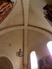 Eglise - Français:   Voûtes du croisillon sud de l\'église Saint-Germain de Mouliherne (49).