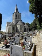 Eglise - Français:   Église Saint-Germain de Mouliherne (49). Chevet.
