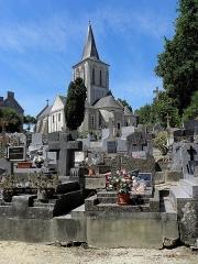 Eglise - Français:   Église Saint-Germain de Mouliherne (49). Chevet et flanc sud.