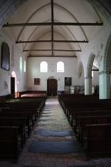 Eglise - Français:   Église Saint-Pierre-et-Saint-Romain de Savennières (49). Intérieur.