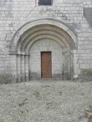 Eglise Saint-Vincent - Français:   Église Saint-Vincent de Vernoil-le-Fourrier (49). Portail du croisillon sud.