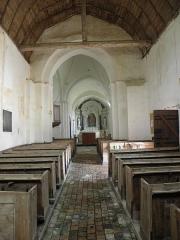 Eglise - Français:   Intérieur de l\'église Saint-Jean-Baptiste de Bannes (53).
