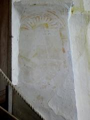 Eglise - Français:   Peinture murale de l\'église Saint-Jean-Baptiste de Bannes (53).