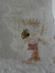 Eglise - Peinture murale de l'église Saint-Jean-Baptiste de Bannes (53).
