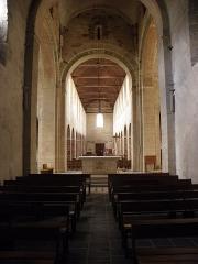 Eglise Saint-Jean-Baptiste - Français:   Intérieur de l\'église Saint-Jean-Baptiste de Château-Gontier (53). Nef et croisée du transept vues du chœur.