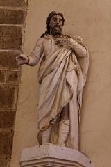 Chapelle de Charné -  Statue de Saint-Joseph. Chapelle de Notre-Dame de Charné en Ernée (53).