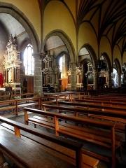 Eglise Notre-Dame des Cordeliers - Français:   Église Notre-Dame-des-Cordeliers de Laval (53). Enfilade des chapelles à gauche de la nef.