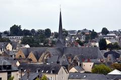 Eglise Saint-Vénérand - Français:   Église Saint-Vénérand vue du jardin de la Perrine à Laval.