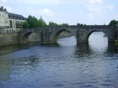 Vieux pont sur la Mayenne - Français:   Le Pont-Vieux sur la Mayenne à Laval, Mayenne.